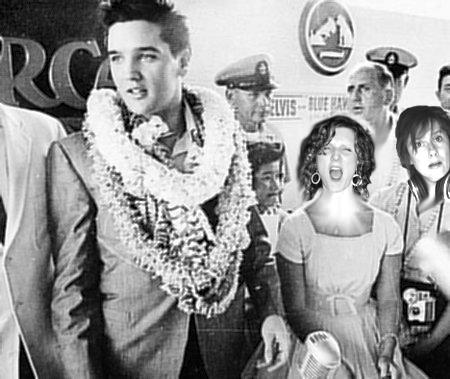 M & Em with Elvis
