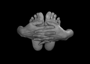 Hands and feet, photo by Janine Gaunt