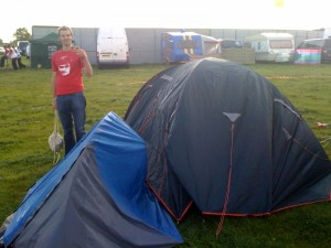 The tent ate some Spam, then started to eat my tent as a pudding.