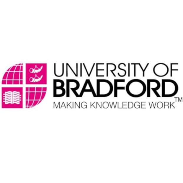Bradford Uni logo is very pink