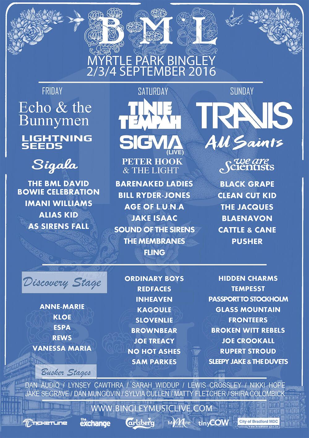 Bingley Music Festival poster