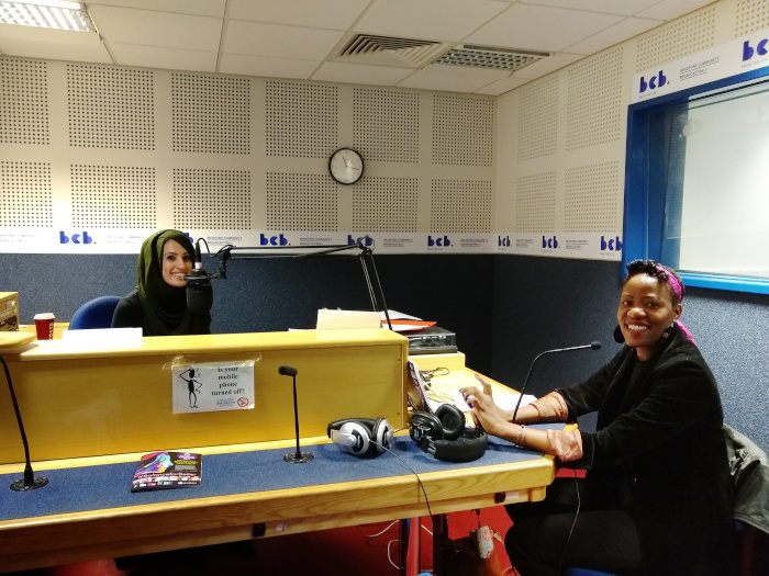 Shamim and Mercy in the studio